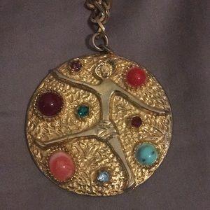 EUC Vintage 1960s Gemstone  Statement necklace